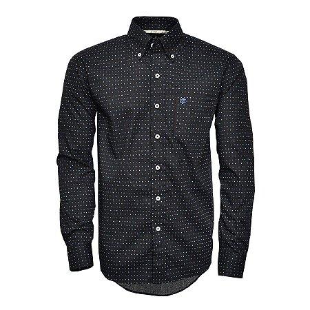 Camisa Tuff Masc ML Preta Print Quadrado