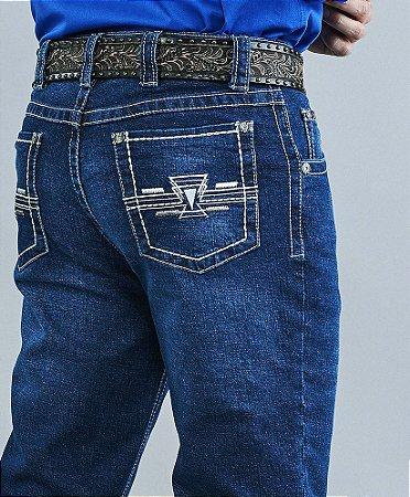 Calça Jeans Docks Pesponto Geométrico 2467