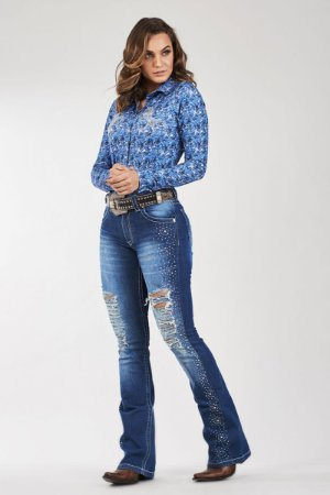 Calça Jeans Docks Rasgada Estrela 2617