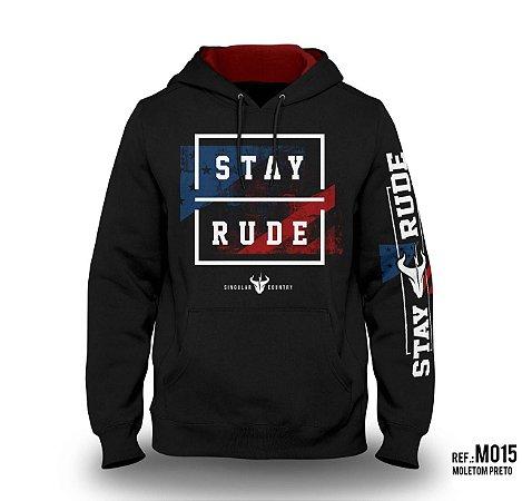 Moletom Stay Rude Masculino Preto