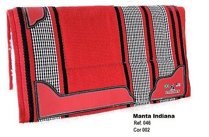 Manta Indiana Stalony Vermelho 46002