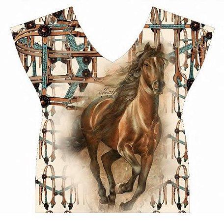 Camiseta Minuty Com Aviamento Horse Brown 720