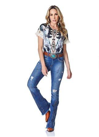Calça Jeans Minuty Feminina Cós Médio 20632
