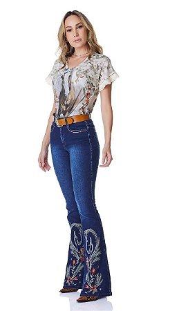 Calça Jeans Minuty Feminina Cós Medio 20745