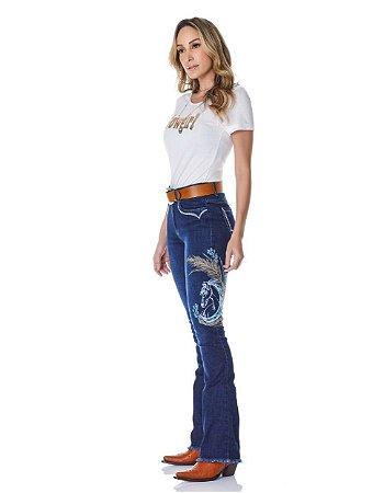 Calça Jeans Minuty Feminina Cós Medio 20715