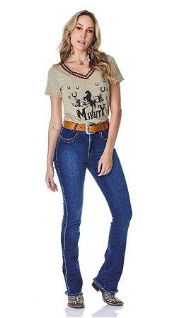 Calça Jeans Minuty Feminina Cós Medio 20749