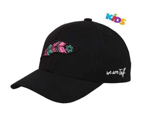 Boné Tuff Pink Feather Kids Preto Pena Rosa CAP2248