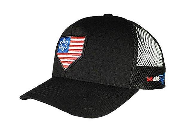 Boné Tuff Revolution BK Preto Logo USA