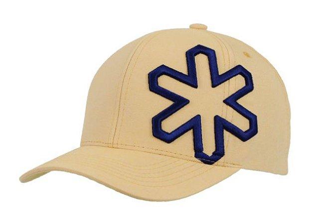 Boné Tuff Buzz Creme Logo Azul Marinho
