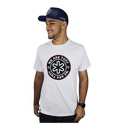 Camiseta Tuff Masc Branca Silk Marinho