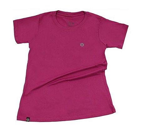 Camiseta Tuff Fem Pink Logo Turquesa TS2489