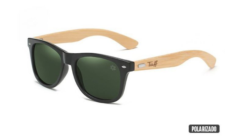 Óculos Tuff Lente Polarizado Verde Sunglasses