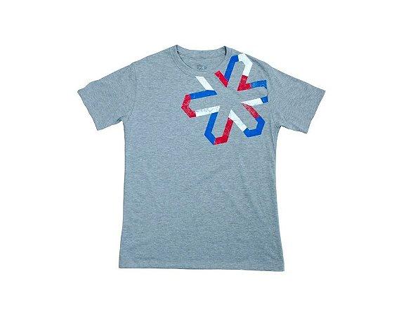 Camiseta Tuff Masculina Mescla Cinza Silk Logo Tuff
