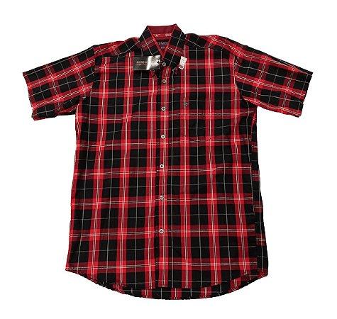 Camisa Bucks Masc. M/C Black Red BWMMC2104