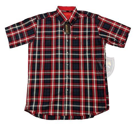 Camisa Bucks Masc. M/C Blue Red BWMMC2106