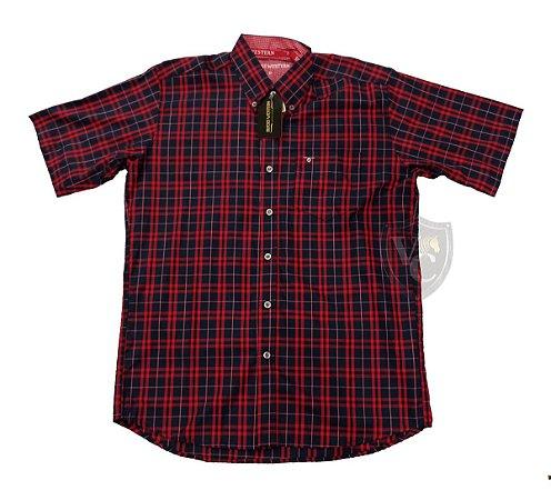 Camisa Bucks Masc. M/C Maroon BWMMC2109