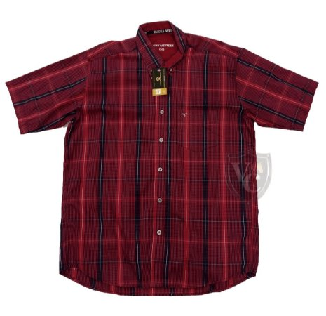 Camisa Bucks Masc. M/C Red BWMMC2115