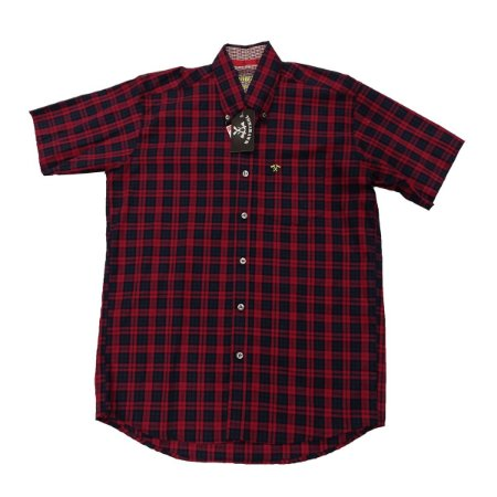 Camisa Tomahawk Masc. M/C Vermelho e Preta TMKMMC2109