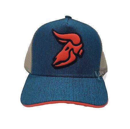 Boné Aurochs Azul Logotipo Laranja 210004