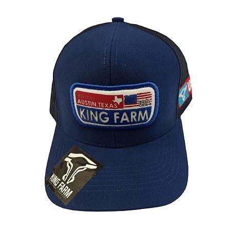 Boné King Farm Azul Marinho Austin Texas KF21