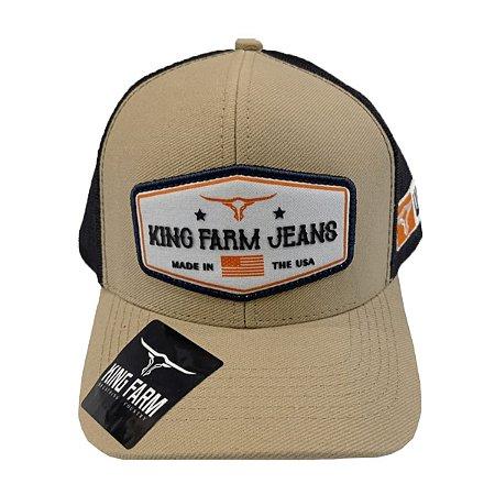 Boné King Farm Areia Made In The USA KF18
