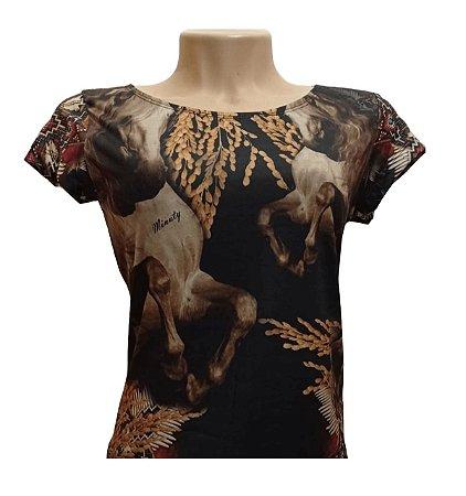 Camiseta Minuty Feminina Gold Horse MF2020GH