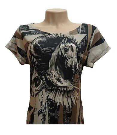 Camiseta Minuty Feminina Horse Cocar MF2020HC