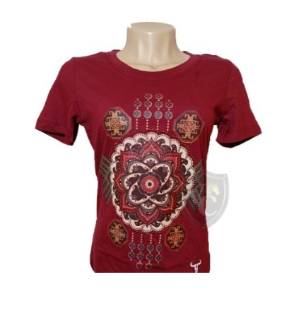 Camiseta Smith Brothers Feminina Vermelho SBTF2103
