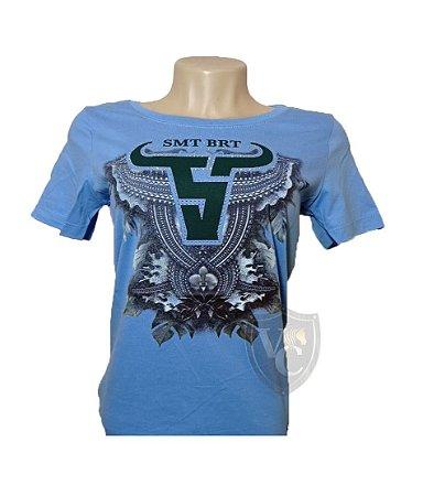 Camiseta Smith Brothers Feminina Azul Baby SBTF2110