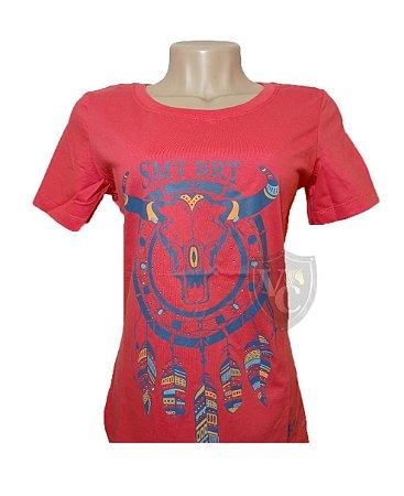 Camiseta Smith Brothers Feminina Coral SBTF2111