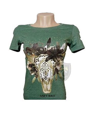 Camiseta Smith Brothers Feminina Verde Oliva SBTF2114