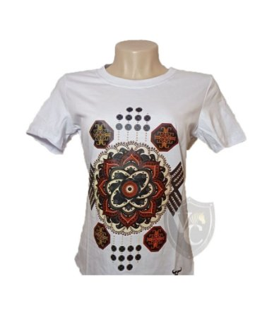 Camiseta Smith Brothers Feminina Branco SBTF2115