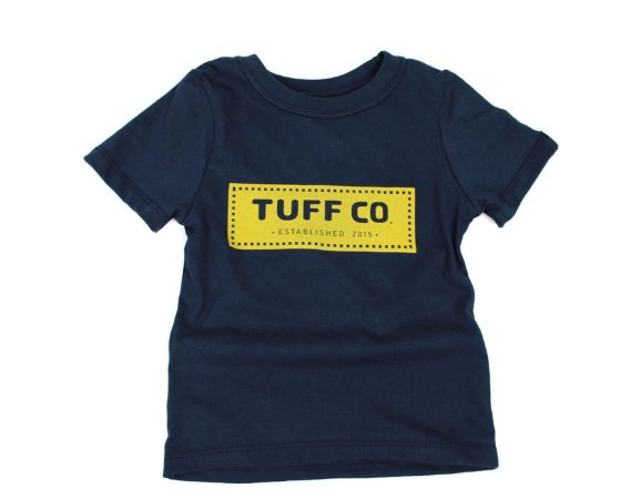 Camiseta Tuff Infantil Marinho Silk Amarelo TS3606