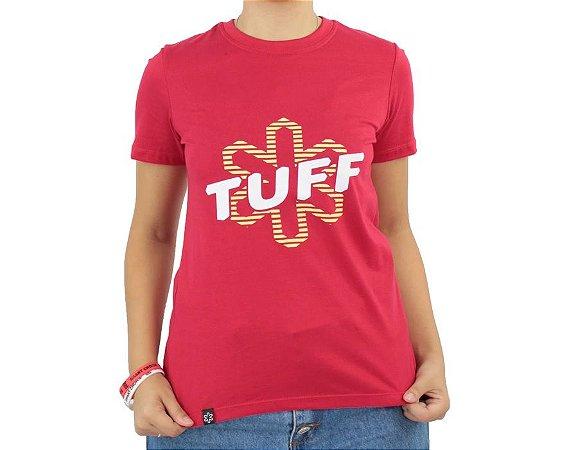 Camiseta Tuff Feminina Vermelha Silk Branco Amarelo TS3507