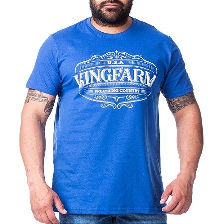 Camiseta King Farm Masculina Azul GCM180