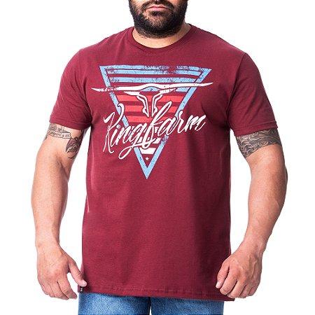 Camiseta King Farm Masculina Bordo GCM162B