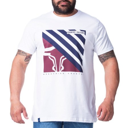 Camiseta King Farm Masculina Branco GCM177B
