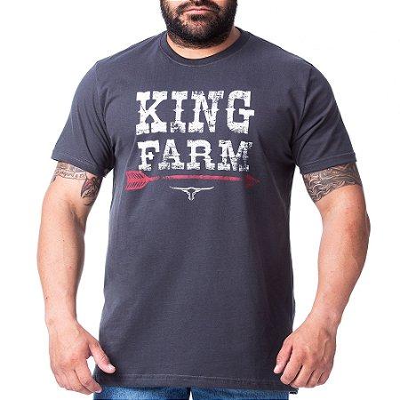 Camiseta King Farm Masculina Chumbo GCM153C