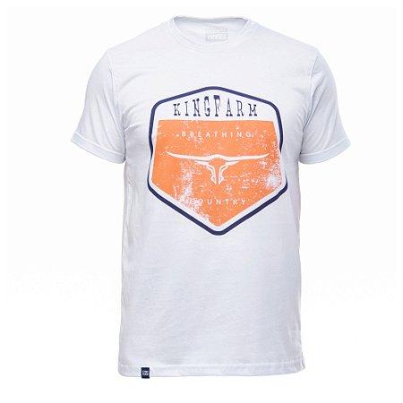 Camiseta King Farm Masculina Branco GCM157B