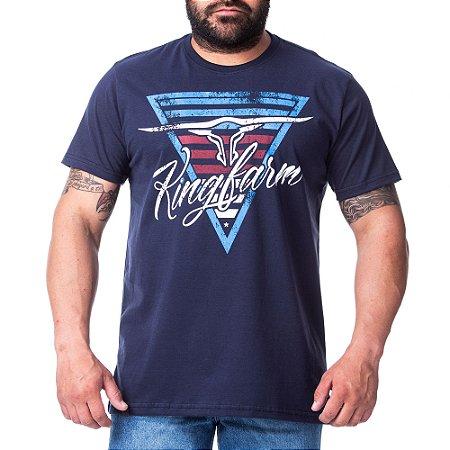 Camiseta King Farm Masculina Azul GCM162A