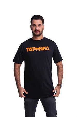 Camiseta Tatanka Masculina Preto Logo Laranja TTK042105