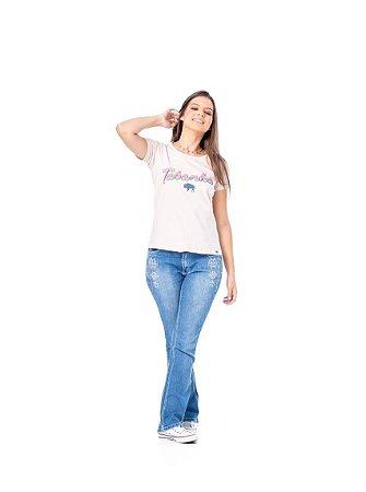 Camiseta Tatanka Feminina Rosa TTK0421104