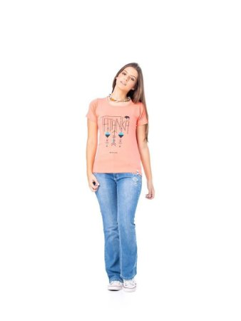 Camiseta Tatanka Feminina Salmão TTK0421107