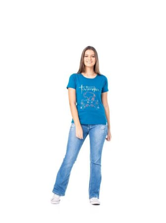 Camiseta Tatanka Feminina Azul TTK0421109