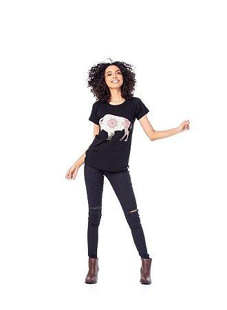 Camiseta Tatanka Feminina Preto TTK0421111