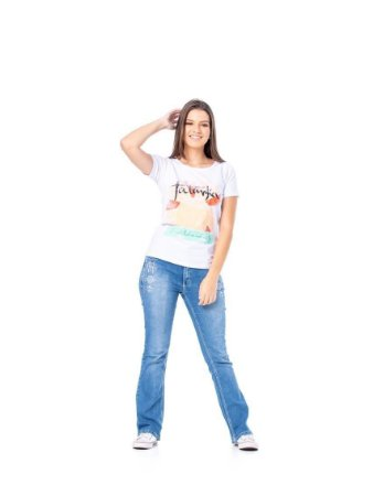 Camiseta Tatanka Feminina Branco TTK0421113