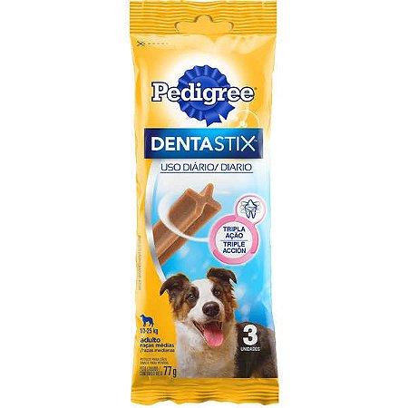 Pedigree Dentastix Cuidado Oral Para Cães Adultos Raças Médias - 75g