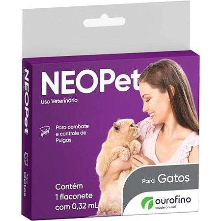 Antipulgas Neopet 0,32 mL para Gatos até 8 Kg