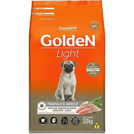 Ração Golden Cães Adultos Light Mini Bits Frango 3kg