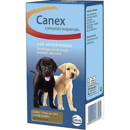Vermífugo Ceva Canex Composto Suspensão para Cães 20ML